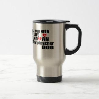 ALL YOU NEED IS LOVE Affenpinscher DOGS DESIGNS Travel Mug