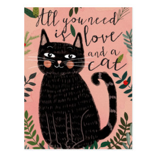 All you Need is Love... And a Cat Postcard