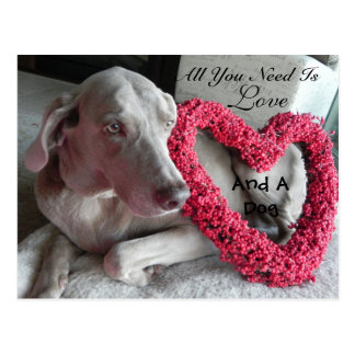All You Need Is Love - and A Dog (Raina) Postcard