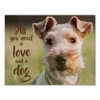All you need is love and a dog// Terrier Poster