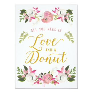All you need is love and a donut sign card