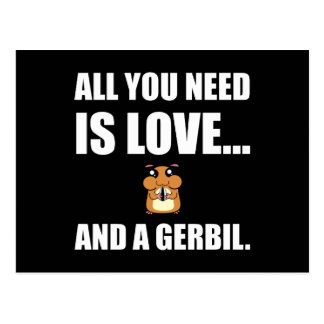 All You Need Is Love And A Gerbil Postcard