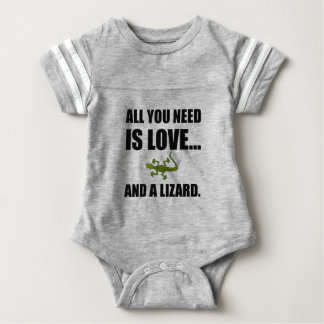All You Need Is Love And A Lizard Baby Bodysuit
