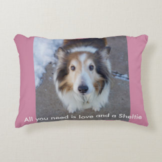 All you need is love and a Sheltie Accent Pillow