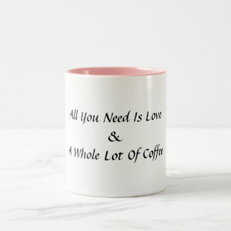 All you need is love and a whole lot of coffee mug