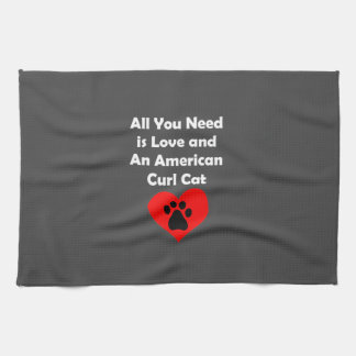 All You Need is Love and An American Curl Cat Towels