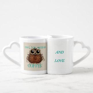 All you need is love and coffee coffee mug set