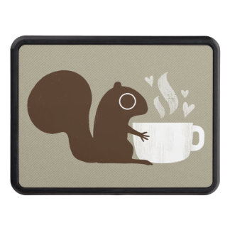 All You Need is Love and Coffee - Squirrel Trailer Hitch Cover