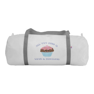 All You Need Is Love And Cupcakes Pastel Colors Gym Bag