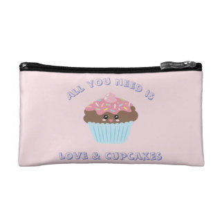 All You Need Is Love And Cupcakes Pastel Colors Makeup Bag