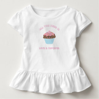 All You Need Is Love And Cupcakes Pastel Colors Toddler T-shirt