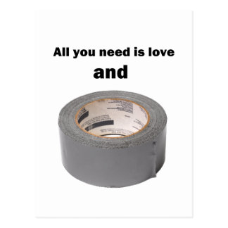 All you need is love and duct tape postcard