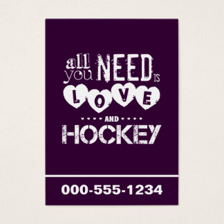 All You Need is Love and Hockey Business Card
