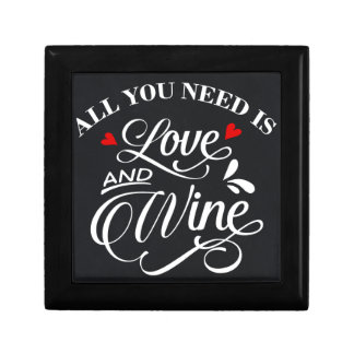 All You Need is Love and Wine Chalkboard Gift Box