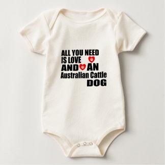 ALL YOU NEED IS LOVE Australian Cattle Dog DOGS DE Baby Bodysuit