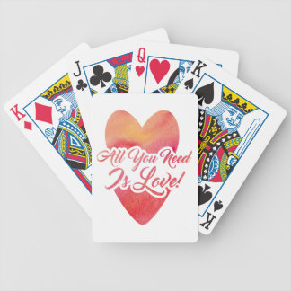all-you-need-is-love bicycle playing cards