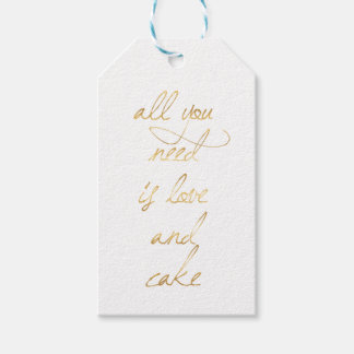All You Need Is Love & Cake Gift Tags