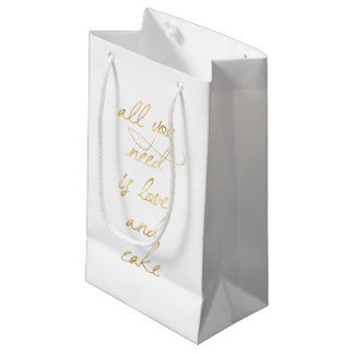 All You Need Is Love & Cake Small Gift Bag