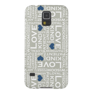 All you need is LOVE cases, Gray Monogram Galaxy S5 Case