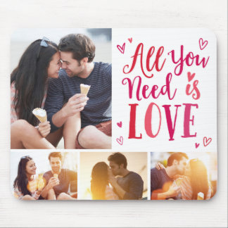 All You Need Is Love EDITABLE COLOR Photo Mousepad