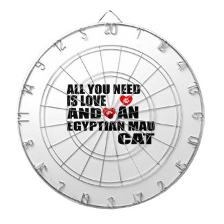 ALL YOU NEED IS LOVE EGYPTIAN MAU CAT DESIGNS DARTBOARD