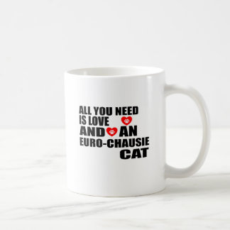 ALL YOU NEED IS LOVE EURO-CHAUSIE CAT DESIGNS COFFEE MUG