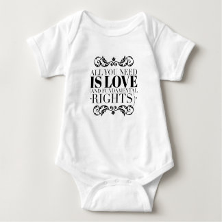 """""""All you need is love..."""" for Baby Baby Bodysuit"""