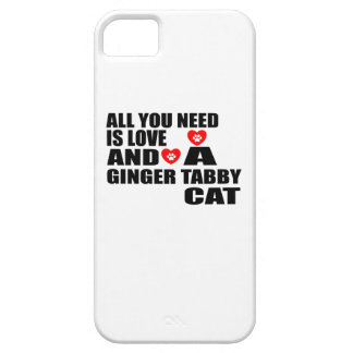ALL YOU NEED IS LOVE GINGER TABBY CAT DESIGNS CASE FOR THE iPhone 5