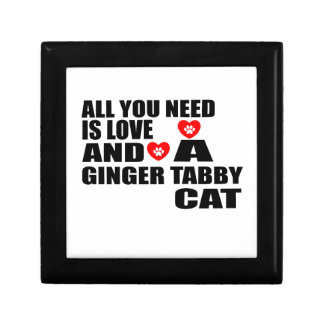 ALL YOU NEED IS LOVE GINGER TABBY CAT DESIGNS GIFT BOX