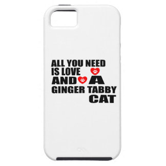 ALL YOU NEED IS LOVE GINGER TABBY CAT DESIGNS iPhone 5 CASES