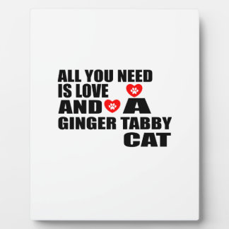 ALL YOU NEED IS LOVE GINGER TABBY CAT DESIGNS PLAQUE