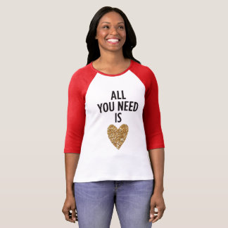 All you need is love heart valentine's day shirt
