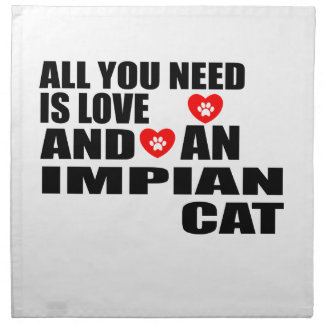 ALL YOU NEED IS LOVE IMPIAN CAT DESIGNS NAPKIN