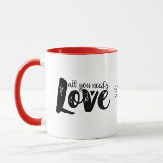 All You Need Is Love Inspirational Quote Love Mug