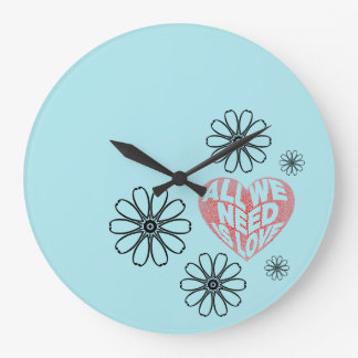 All you need is love large clock