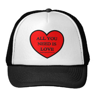 ALL YOU NEED IS LOVE - LOVE TO BE ME TRUCKER HAT
