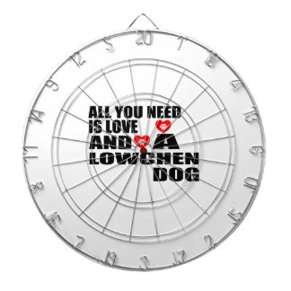 ALL YOU NEED IS LOVE LOWCHEN DOGS DESIGNS DARTBOARD
