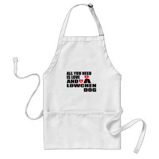 ALL YOU NEED IS LOVE LOWCHEN DOGS DESIGNS STANDARD APRON