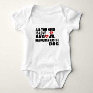 ALL YOU NEED IS LOVE NEAPOLITAN MASTIFF DOGS DESIG BABY BODYSUIT