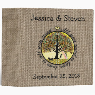 All You Need is Love on Burlap Binder