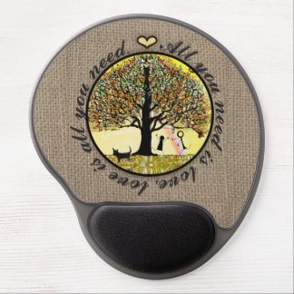 All You Need is Love on Burlap Gel Mouse Pad