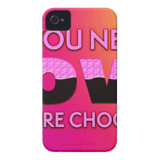 All you need is love or more chocolate Case-Mate iPhone 4 case