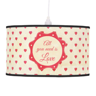 All you need is love pendant lamp