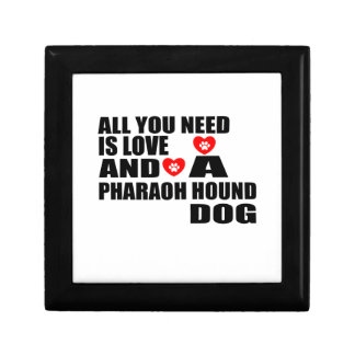 ALL YOU NEED IS LOVE PHARAOH HOUND DOGS DESIGNS GIFT BOX