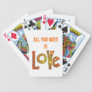 """""""All You Need Is Love"""" Playing Cards"""