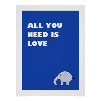 all you need is love - poster (blue)