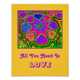 'All You Need Is Love'  Poster (Yellow)