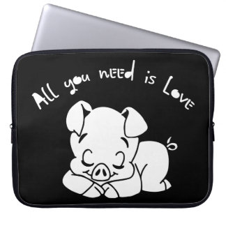 All you need is love, quote laptop sleeve