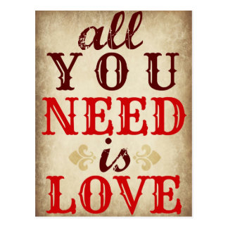 All You Need is LOVE Save the Date Postcard