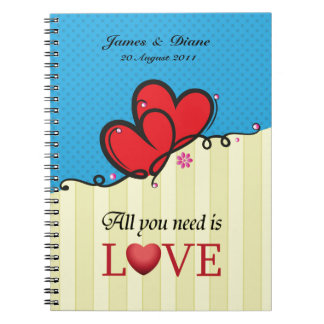 All you need is Love Spiral Note Books